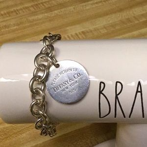 Tiffany & Co. Sterling Silver Tag Charm Bracelet